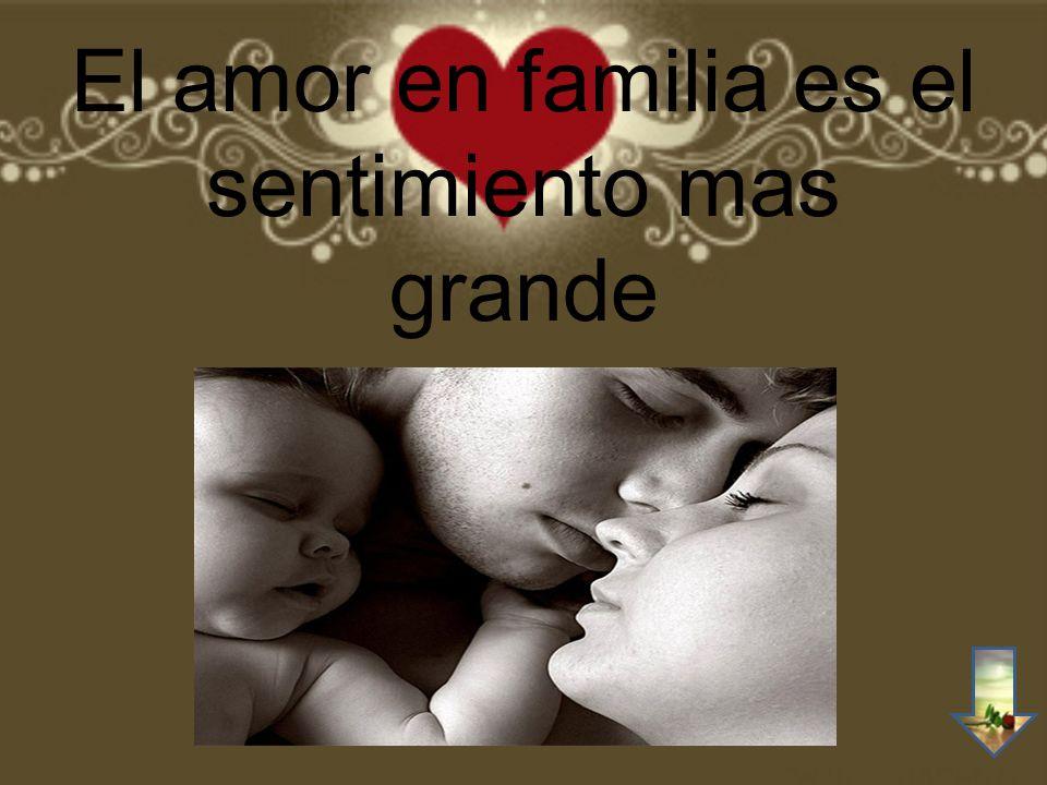 El amor en familia es el sentimiento mas grande