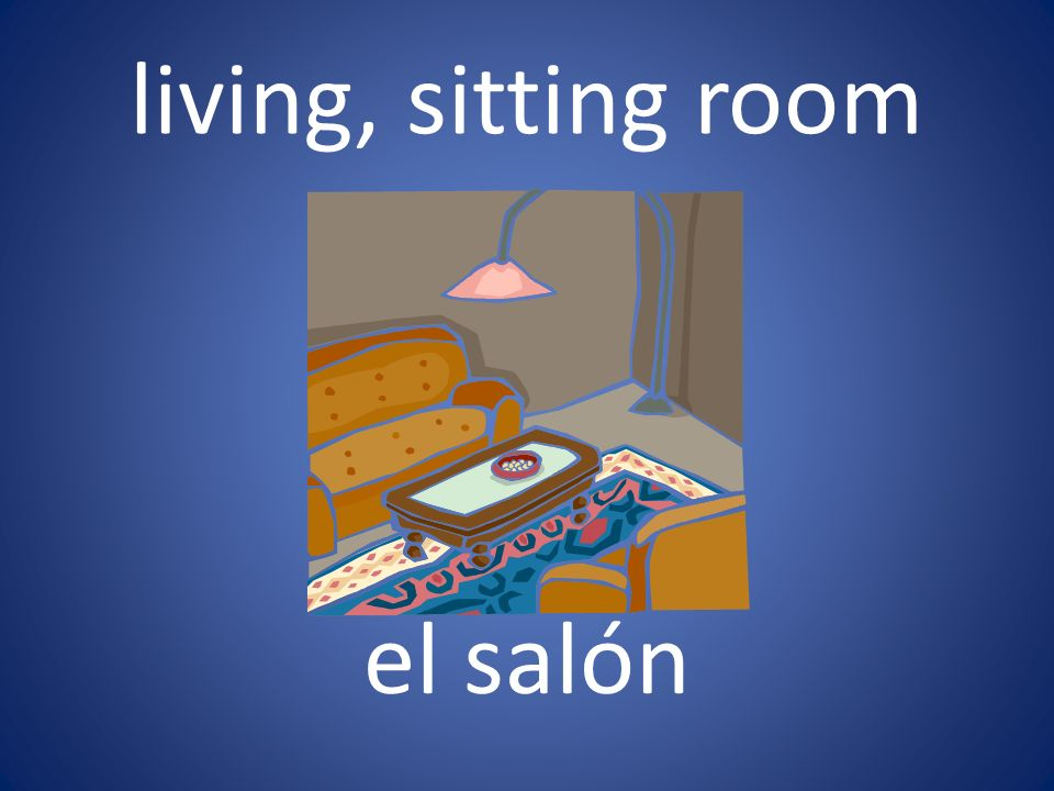 living, sitting room el salón