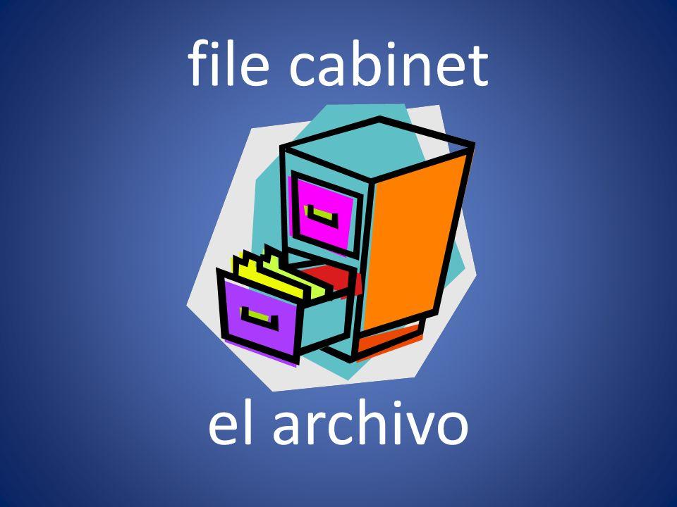file cabinet el archivo