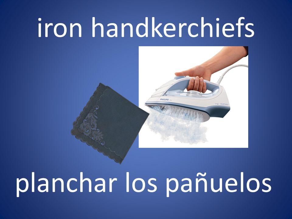 iron handkerchiefs planchar los pañuelos