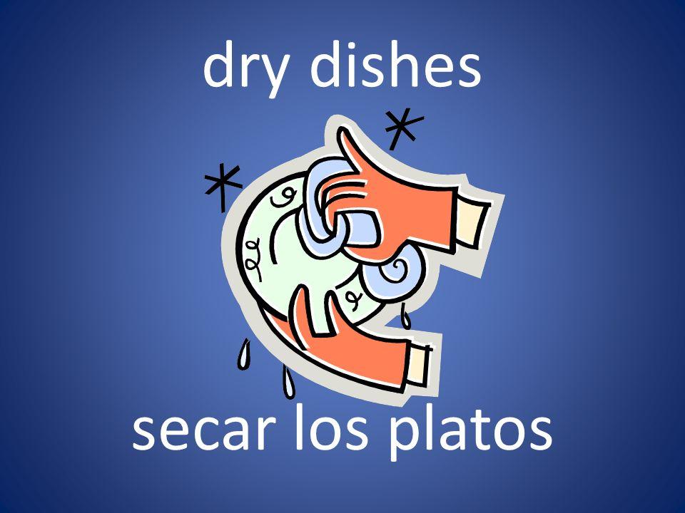 dry dishes secar los platos