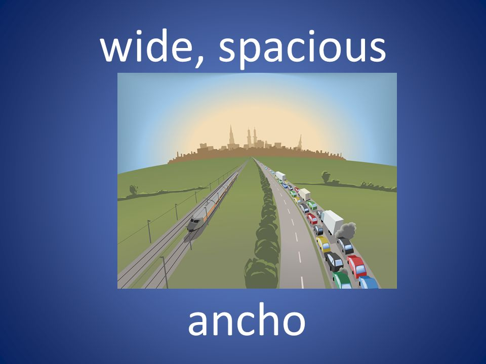 wide, spacious ancho
