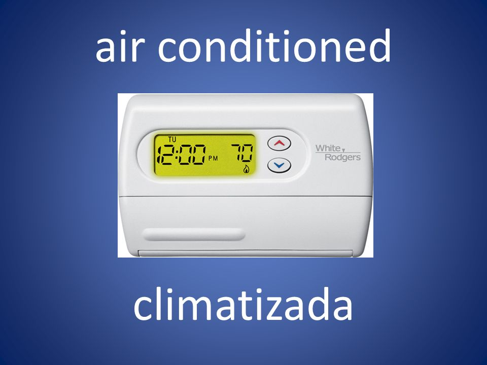 air conditioned climatizada