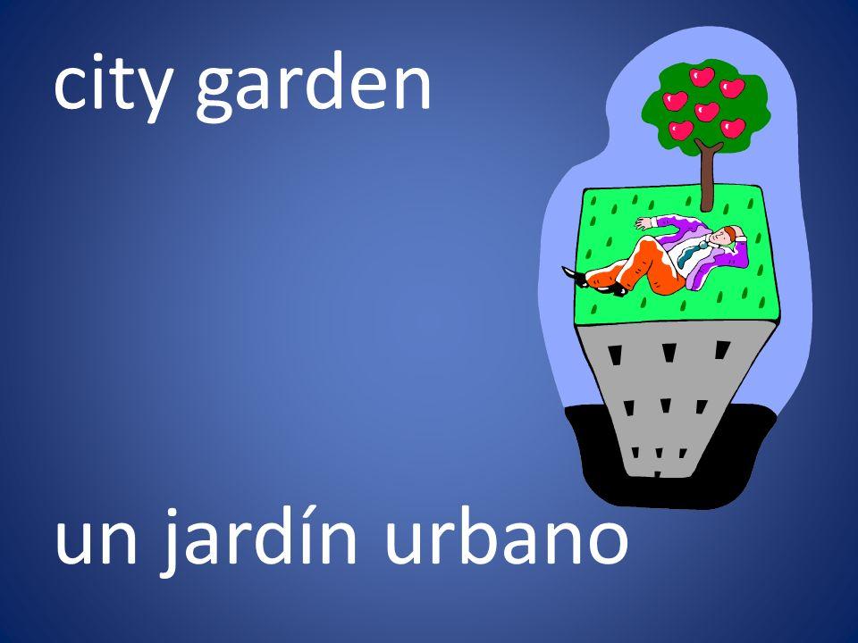 city garden un jardín urbano
