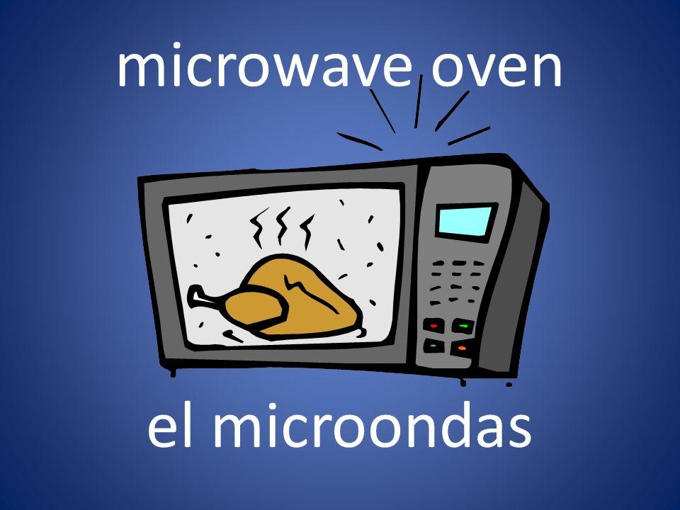 microwave oven el microondas