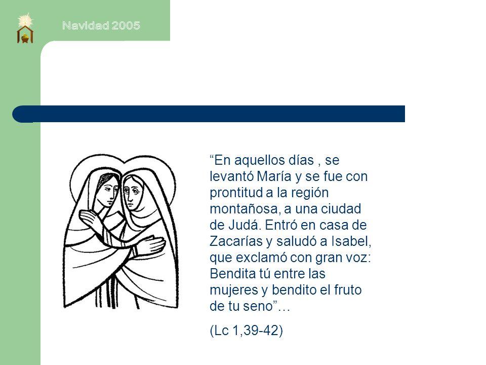 En aquellos días, se levantó María y se fue con prontitud a la región montañosa, a una ciudad de Judá.