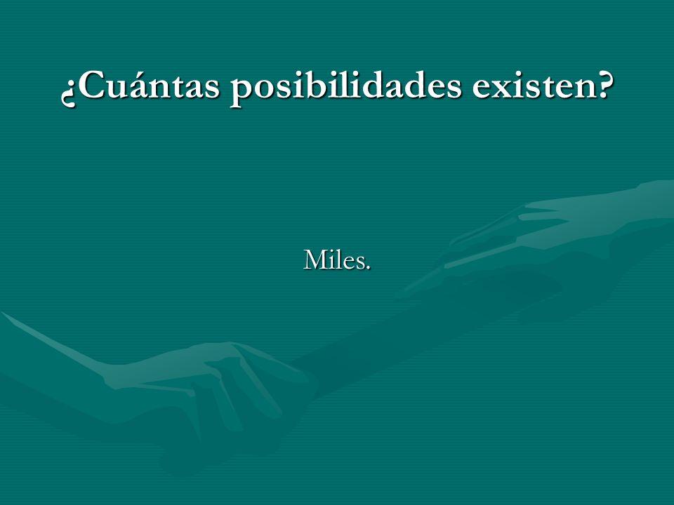 ¿Cuántas posibilidades existen Miles.