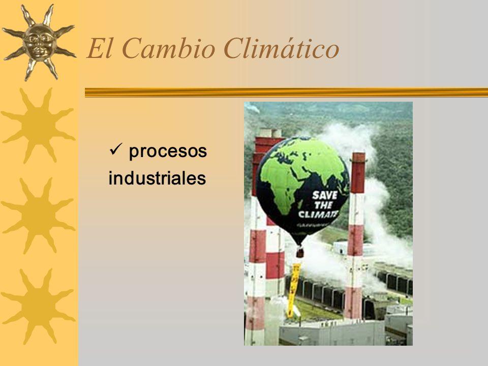 procesos industriales El Cambio Climático