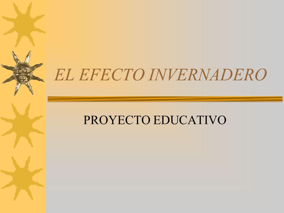 EL EFECTO INVERNADERO PROYECTO EDUCATIVO