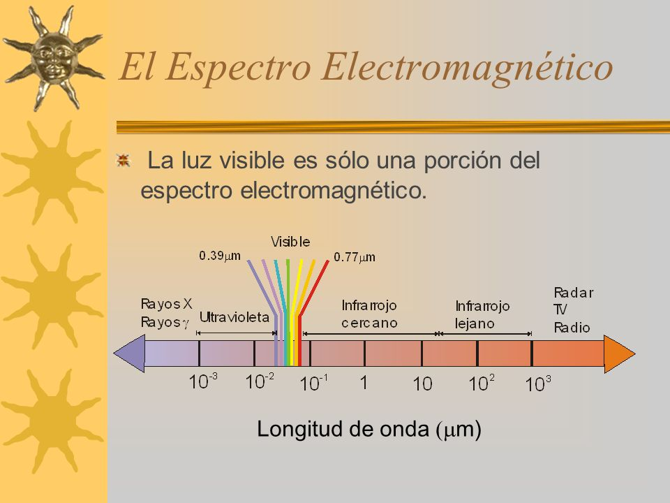 El Espectro Electromagnético La luz visible es sólo una porción del espectro electromagnético.