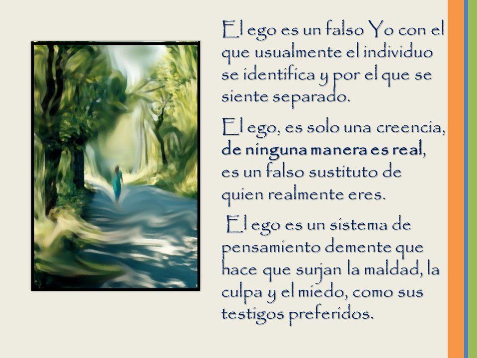 Sustituimos la culpa de nuestro ego, (que hemos hecho realidad), por lo real de nuestra identidad como espíritu; la cual (la chispa de divinidad que p