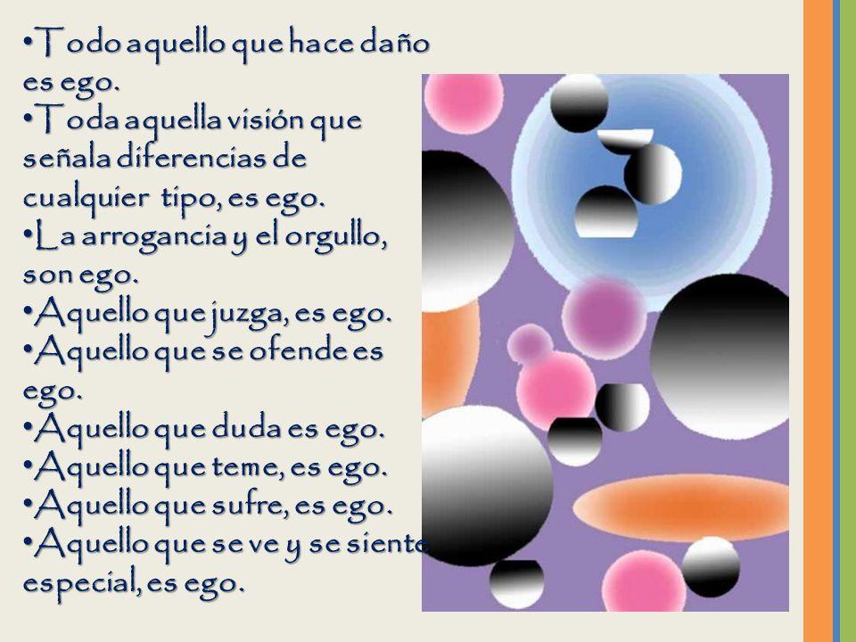 El ego es el que fabrica todos nuestros problemas.