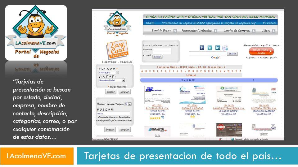 Cualquiera que tenga una tarjeta de presentación puede usar nuestro tarjetero virtual a través de Internet.