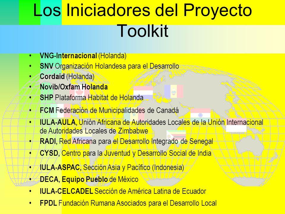 FPDL Fundación Rumana Asociados para el Desarrollo Local RADI, Red Africana para el Desarrollo Integrado de Senegal DECA, Equipo Pueblo de México IULA