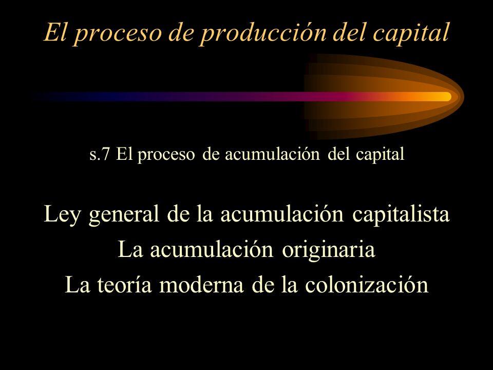 El proceso de producción del capital s.3 Producción de la Plusvalía Absoluta s.4 Producción de la Plusvalía Relativa s.5 Producción de la Plusvalía Ab