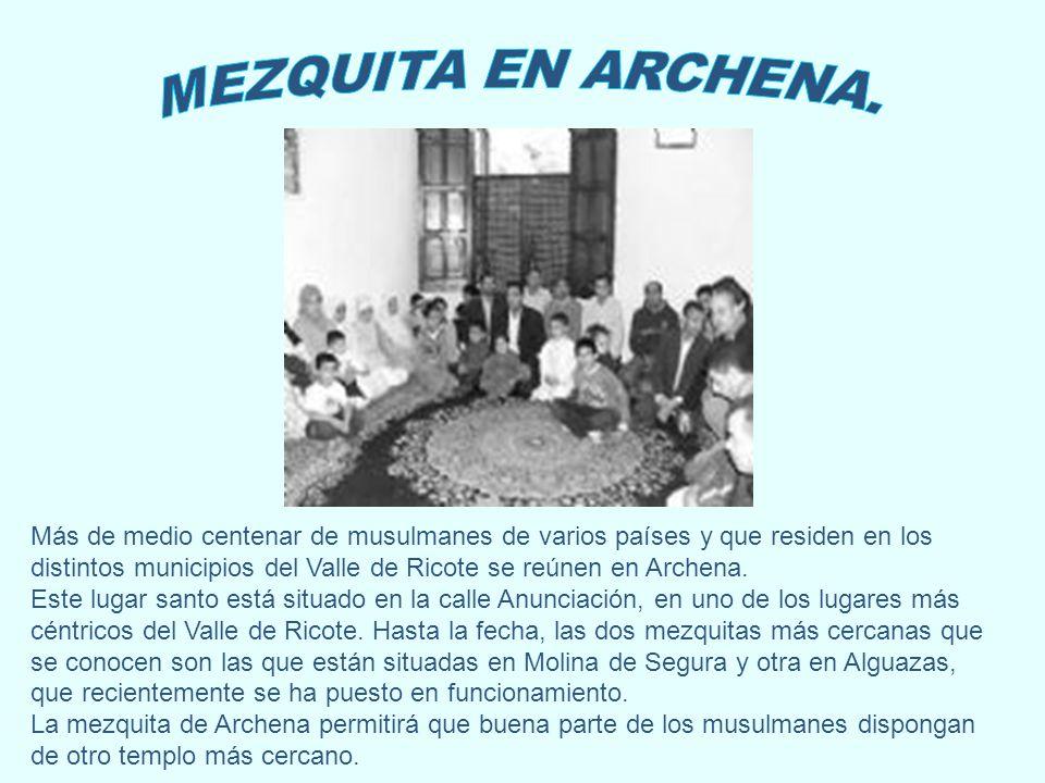Más de medio centenar de musulmanes de varios países y que residen en los distintos municipios del Valle de Ricote se reúnen en Archena. Este lugar sa