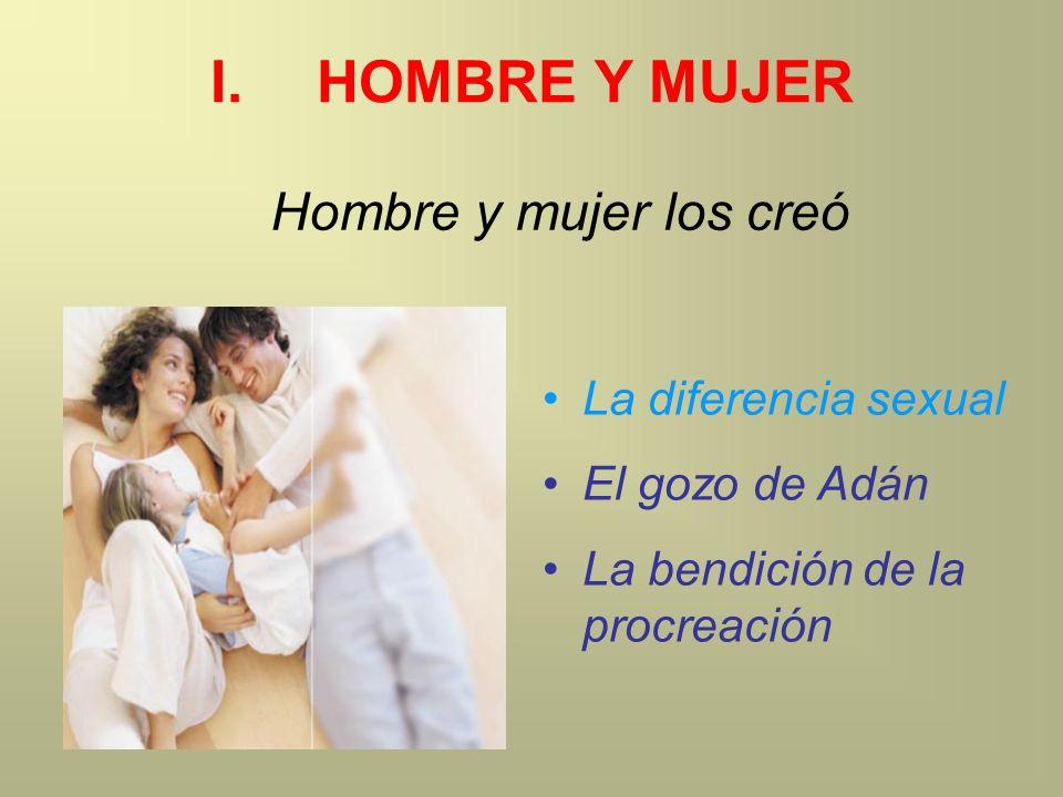 La diferencia sexual El gozo de Adán La bendición de la procreación Hombre y mujer los creó