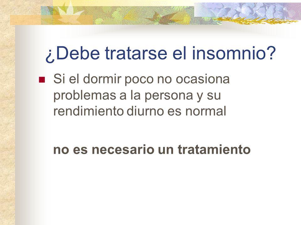 ¿Debe tratarse el insomnio.