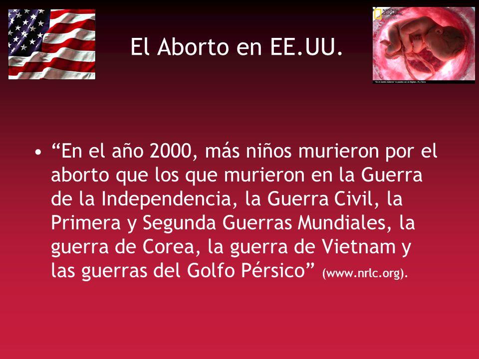 El Aborto en EE.UU. En el año 2000, más niños murieron por el aborto que los que murieron en la Guerra de la Independencia, la Guerra Civil, la Primer
