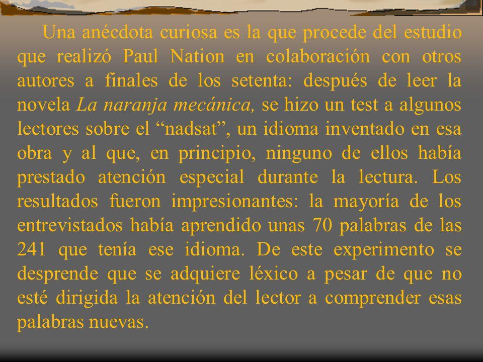 OPCIONES Trabajar en clase con textos y audiciones en español Practicar el español en casa: leer, escuchar la radio o la televisión, etc.