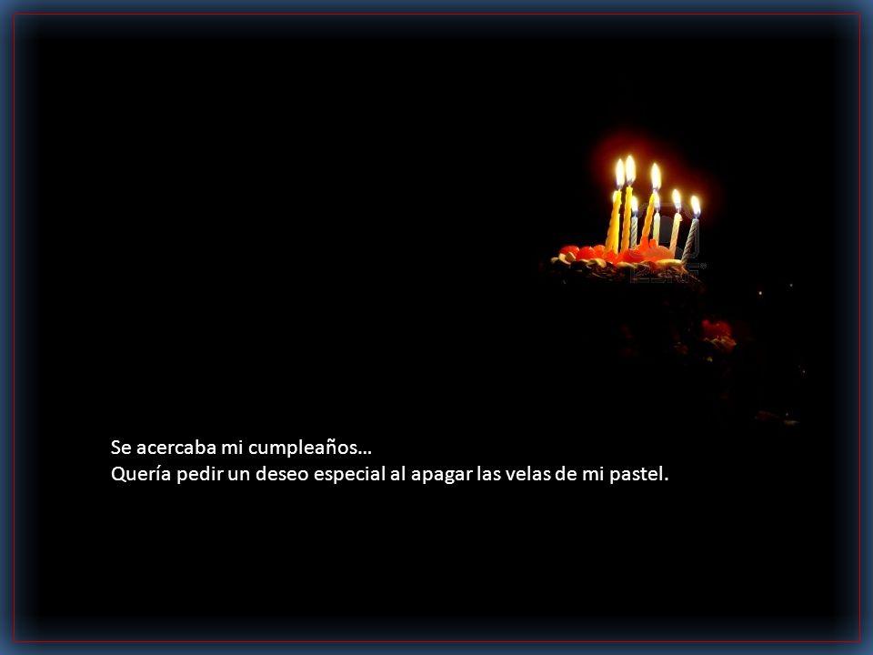 Se acercaba mi cumpleaños… Quería pedir un deseo especial al apagar las velas de mi pastel.