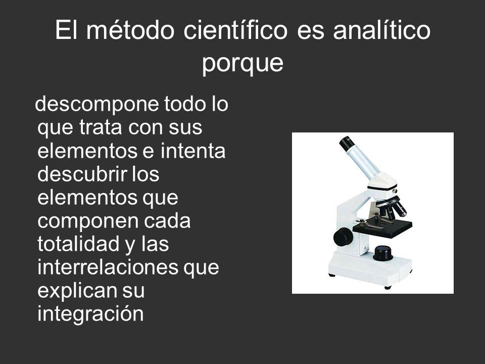 El resultado final del método científico es: la predicción de algunos fenómenos no observados todavía o la verificación de las relaciones entre varios procesos