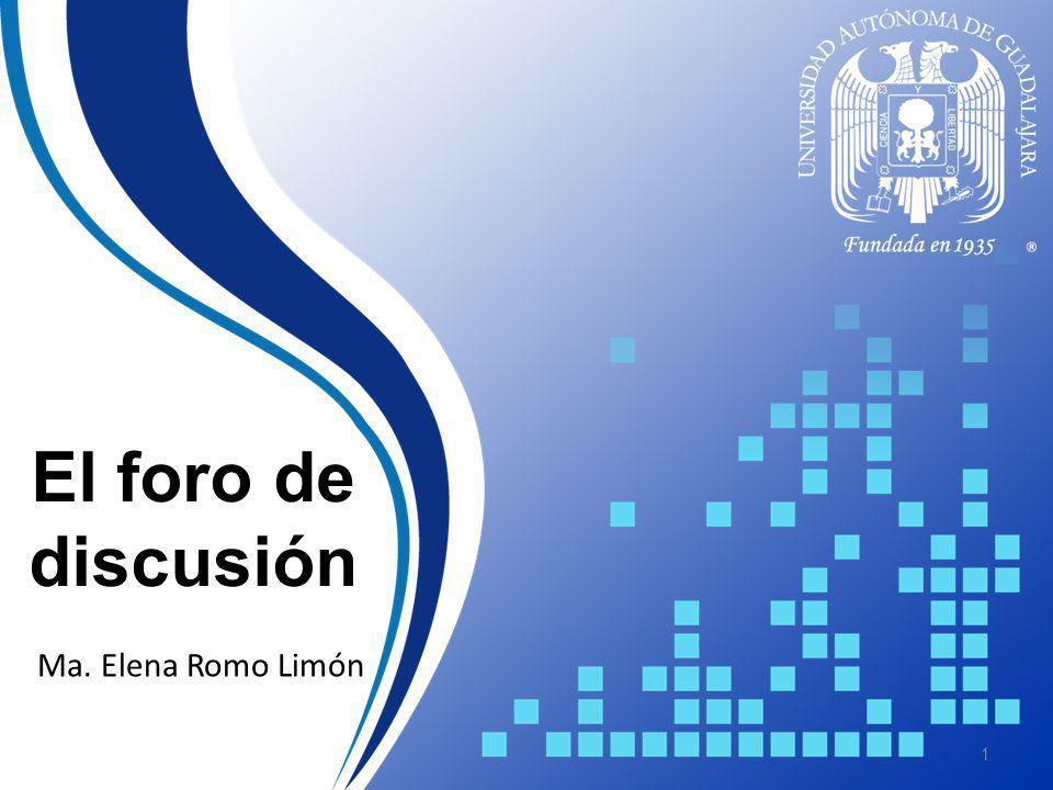 El foro de discusión División de Apoyo para el Aprendizaje 2 Objetivo C C omprender las características, clasificación y potencialidades de los foros de discusión en línea en ambientes educativos.