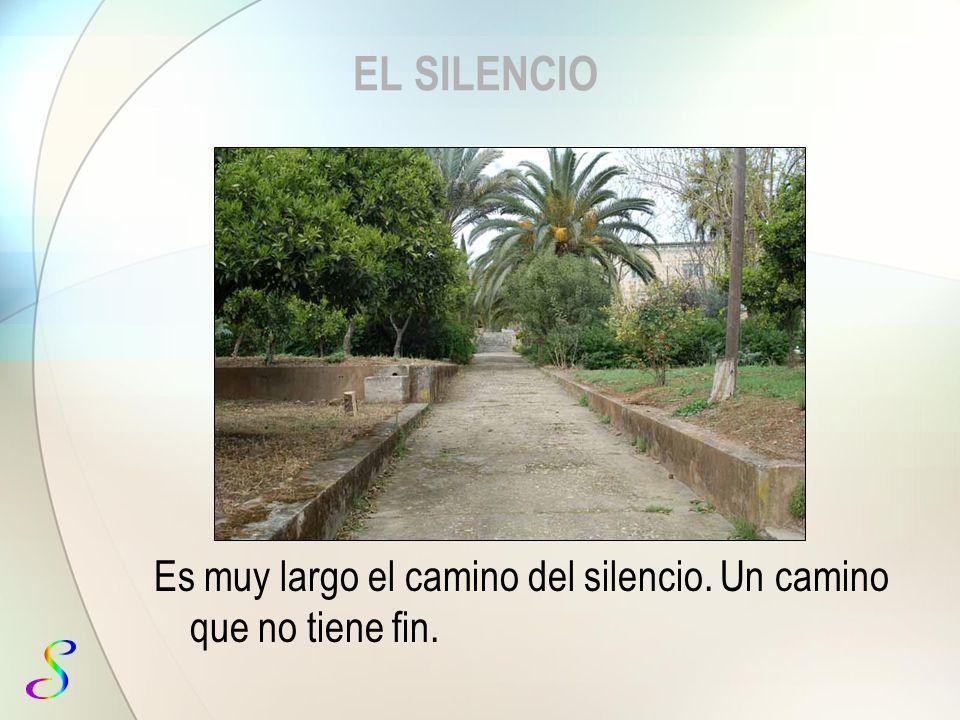 EL SILENCIO Es muy largo el camino del silencio. Un camino que no tiene fin.