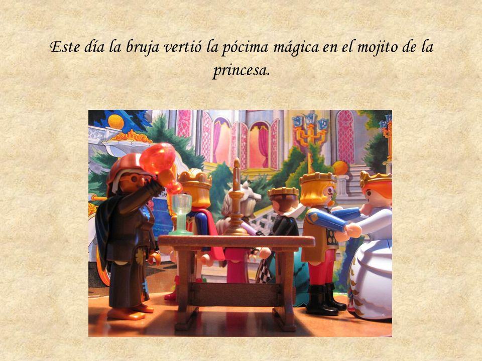 Este día la bruja vertió la pócima mágica en el mojito de la princesa.