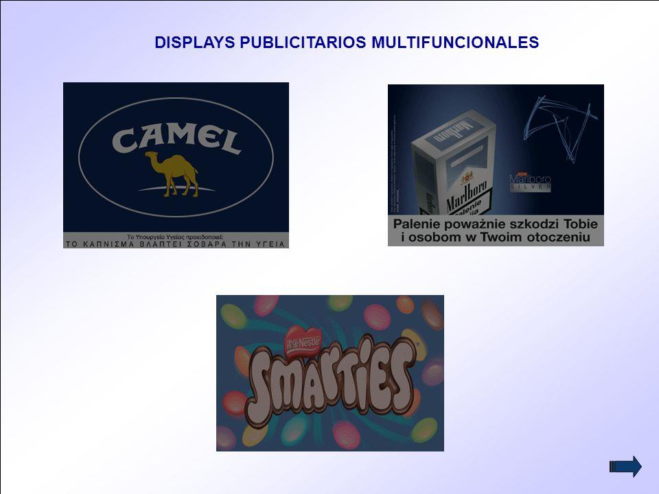11 DISPLAYS PUBLICITARIOS MULTIFUNCIONALES
