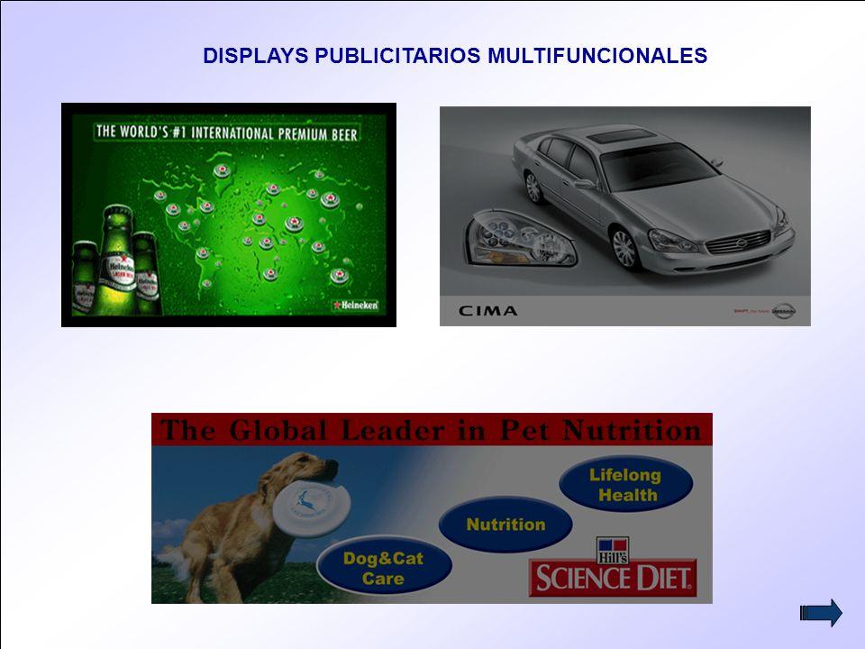 12 DISPLAYS PUBLICITARIOS MULTIFUNCIONALES