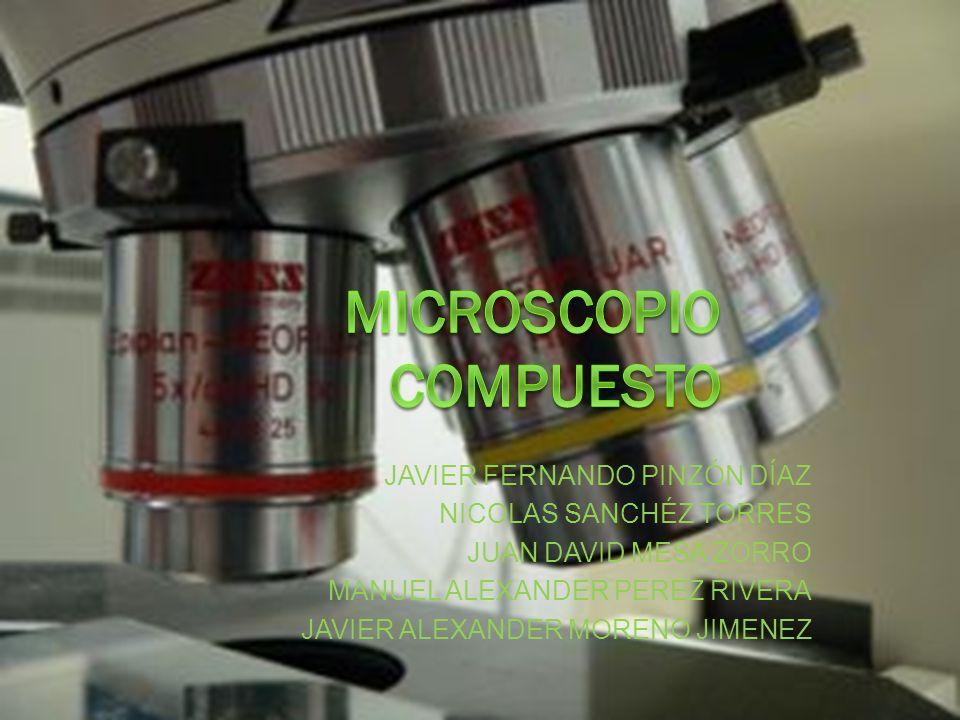 DEFINICIÓN Un microscopio compuesto es un microscopio óptico que tiene más de una lente de objetivo.