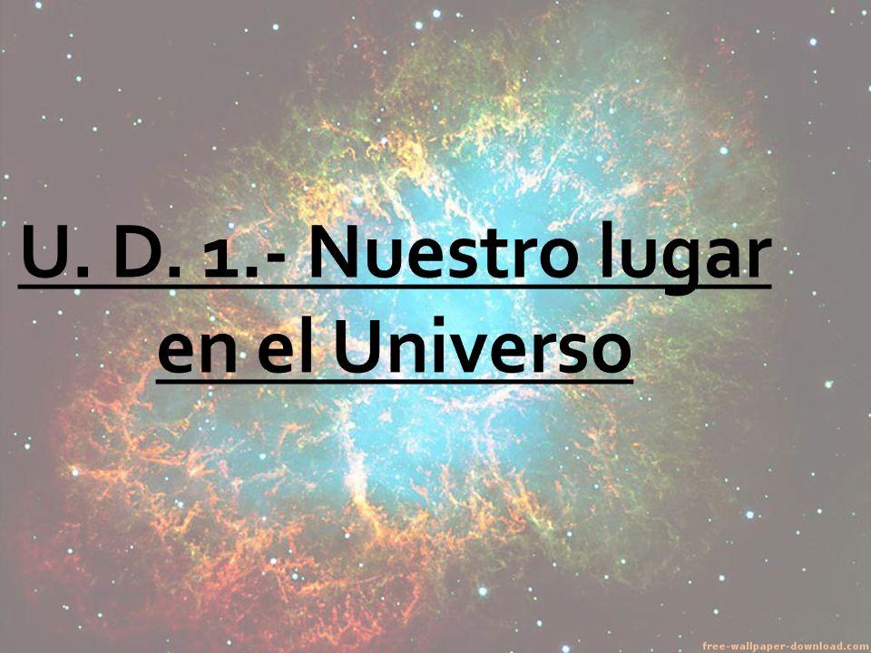 U. D. 1.- Nuestro lugar en el Universo