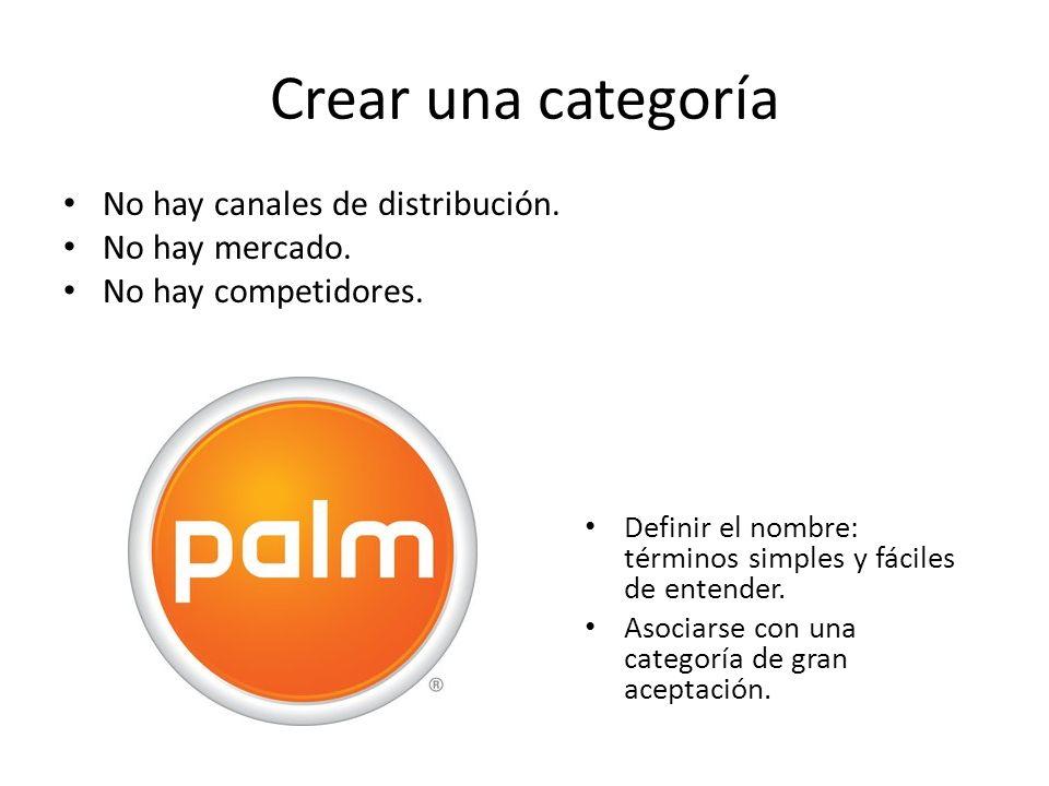 Crear una categoría No hay canales de distribución. No hay mercado. No hay competidores. Definir el nombre: términos simples y fáciles de entender. As