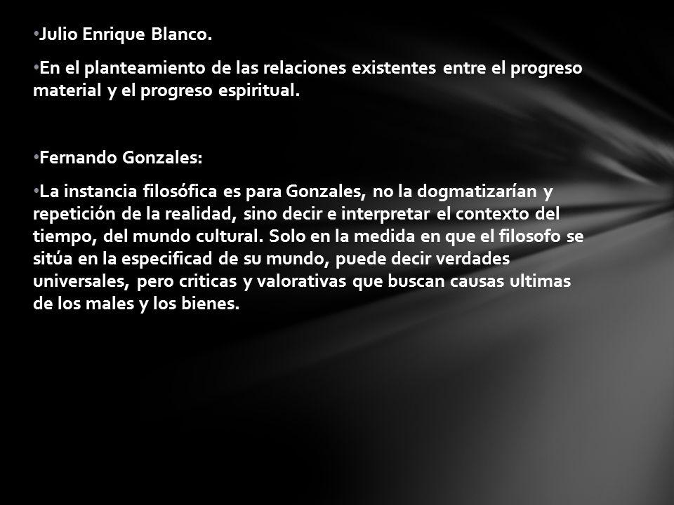 Julio Enrique Blanco.