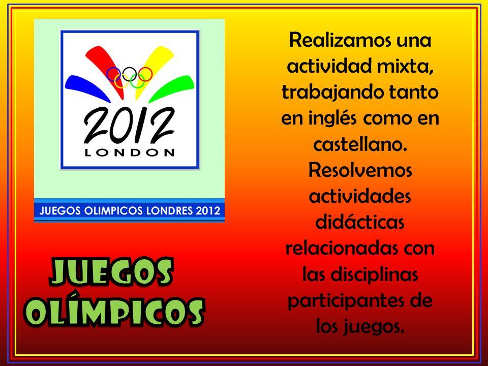 Realizamos una actividad mixta, trabajando tanto en inglés como en castellano. Resolvemos actividades didácticas relacionadas con las disciplinas part