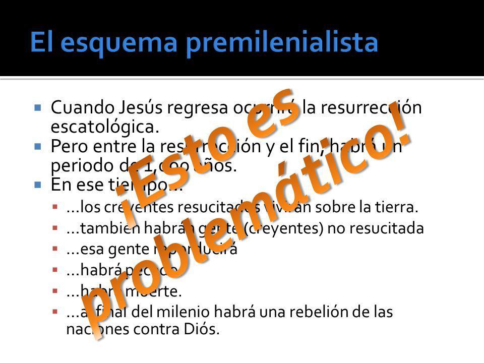 Cuando Jesús regresa ocurrirá la resurrección escatológica. Pero entre la resurrección y el fin, habrá un periodo de 1,000 años. En ese tiempo… …los c
