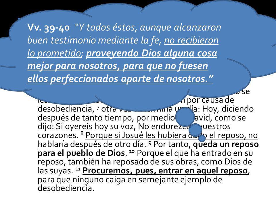 Canaán solo fue una sombra del cielo y de la nueva creación, el descanso final. Heb 4:6-11 – Por lo tanto, puesto que falta que algunos entren en él [