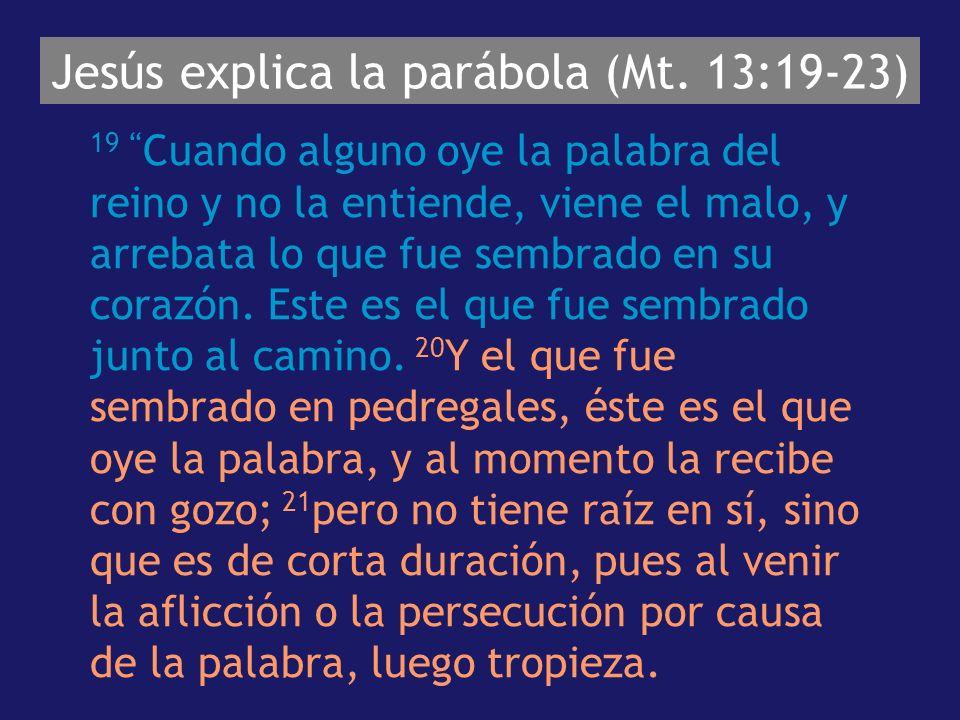 Jesús explica la parábola (Mt.