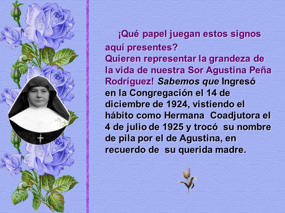 Sor Daría Andiarena Sagaseta ingresó en el Instituto a sus 23 años, un 9 de noviembre en los albores del siglo XX, año de 1902.
