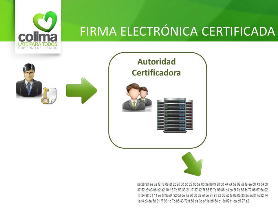 FIRMA ELECTRÓNICA CERTIFICADA Autoridad Certificadora