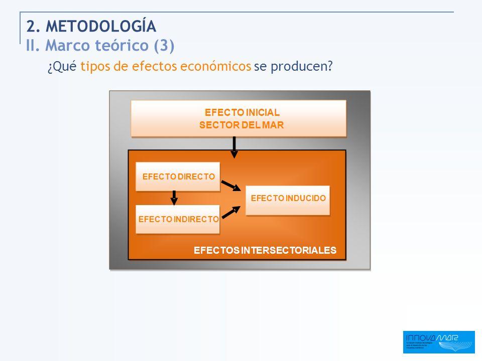 2. METODOLOGÍA II. Marco teórico (3) ¿Qué tipos de efectos económicos se producen?