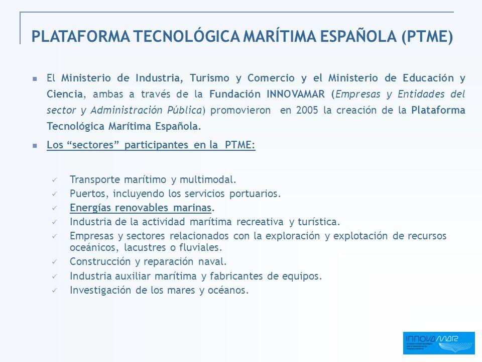 El Ministerio de Industria, Turismo y Comercio y el Ministerio de Educación y Ciencia, ambas a través de la Fundación INNOVAMAR (Empresas y Entidades