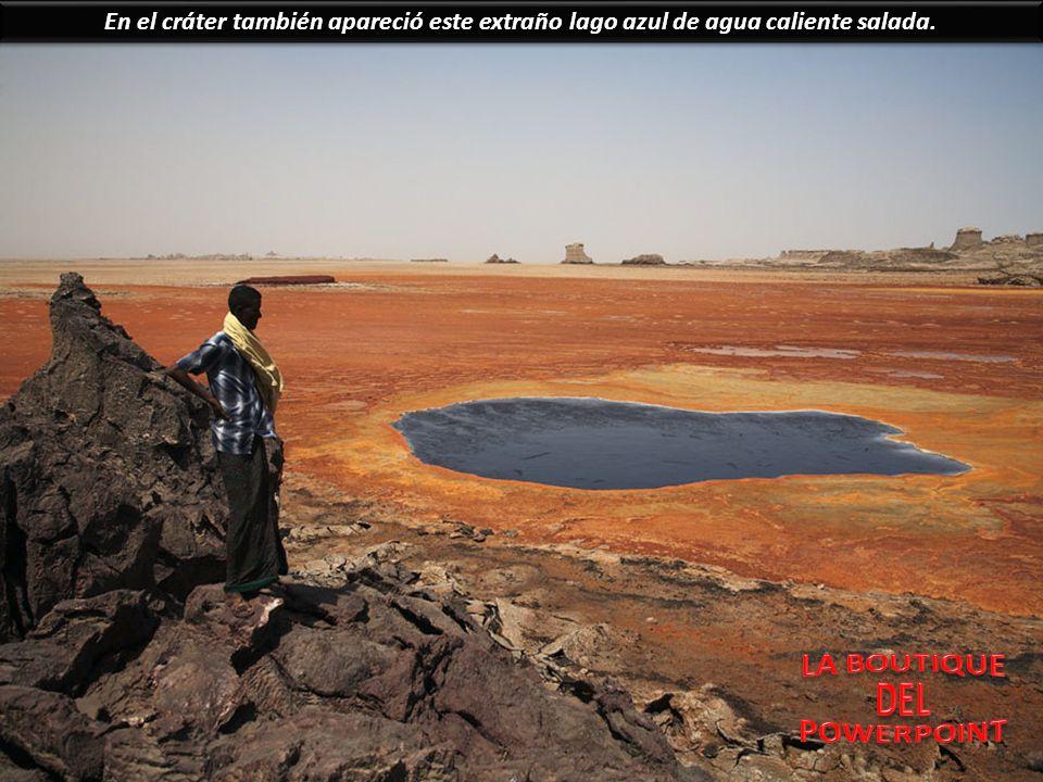 Dallol es un paisaje singular que cuenta con todo el tipo de fenómenos que se puede esperar encontrar en una zona de alta actividad geotérmica, como g