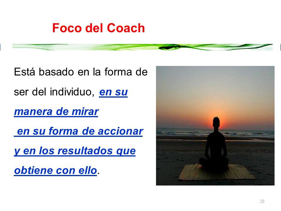19 El Coaching es un proceso de aprendizaje de asumir responsabilidades y en el cual, transformamos el tipo de observador que uno es... ¿Qué es Coachi