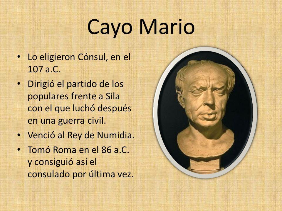 Cneo Pompeyo Fue un militar que logró un gran poder político.