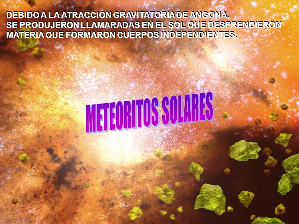 QUEDANDO LAS PARTICULAS COMO ANILLOS DE MATERIA (SIMILAR A SATURNO) O CAYENDO AL PLANETA COMO METEOROS QUEDANDO LAS PARTICULAS COMO ANILLOS DE MATERIA (SIMILAR A SATURNO) O CAYENDO AL PLANETA COMO METEOROS