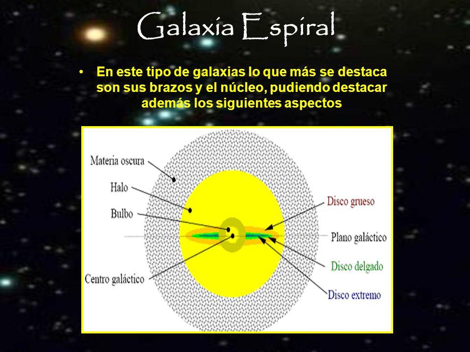 Composición de la Vía Láctea Se estima que está constituida por 100 mil millones de estrellas y su masa es de 10¹² masas solares.