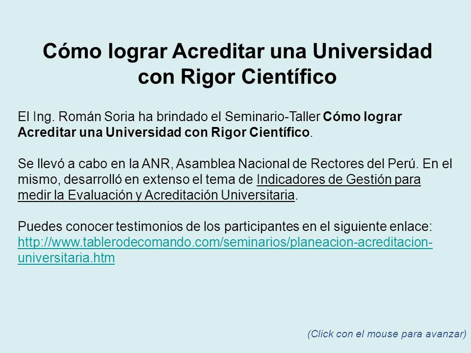 El Ing. Román Soria ha brindado el Seminario-Taller Cómo lograr Acreditar una Universidad con Rigor Científico. Se llevó a cabo en la ANR, Asamblea Na