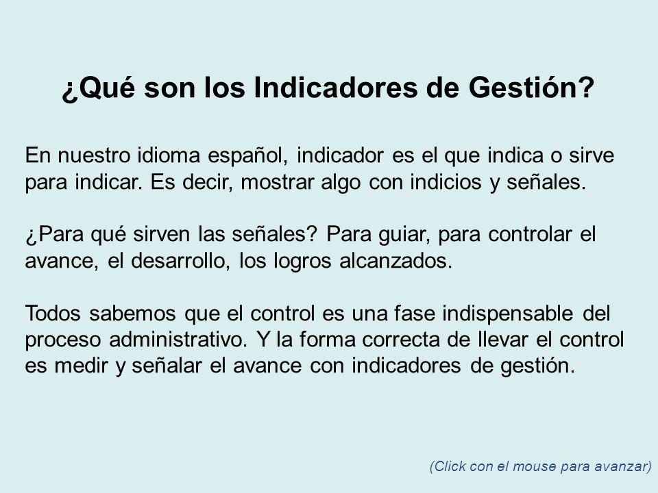 En nuestro idioma español, indicador es el que indica o sirve para indicar. Es decir, mostrar algo con indicios y señales. ¿Para qué sirven las señale